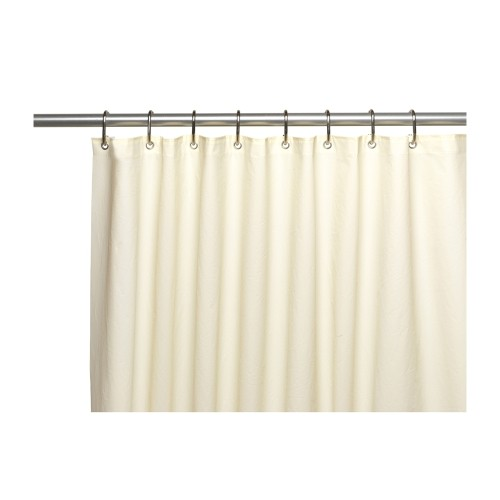 Carnation Home Fashions Stall Size Ivory 10 Gauge Peva Shower Curtain Liner With Metal Grommets Bathroom Accessories