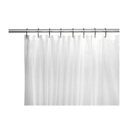 Carnation Home Fashions 6 Gauge Peva Shower Curtain Liner With Metal Grommets