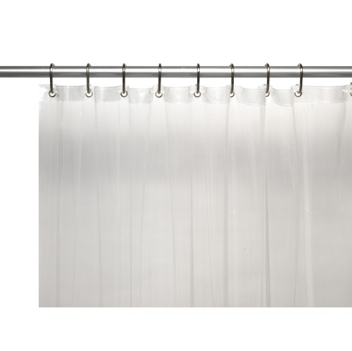 American Crafts 4 Gauge Premium Vinyl Shower Curtain Liner With Metal Grommets And Magnets