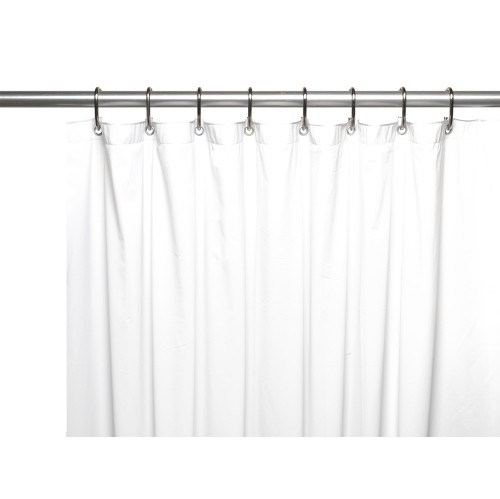 American Crafts 3 Gauge Vinyl Shower Curtain Liner With Metal Grommets And Magnets