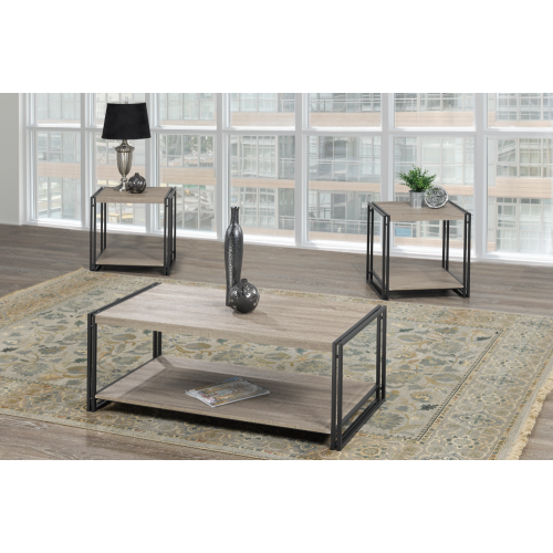 Storage Coffee Table Canada: Distressed Grey Wood Finish Modern Rectangular Coffee