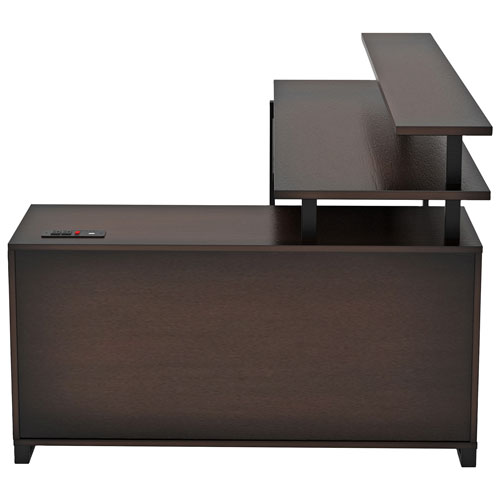 pretty nice 44df2 a0836 Balken Transitional L-Shaped Desk with Keyboard Tray - Espresso