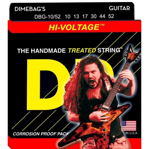 DR Strings Electric Guitar Strings, Dimebag Darrell Signature, Nickel-Plated, 10-52