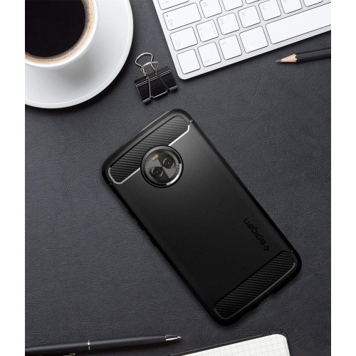 new product f8259 e8350 Moto X4 Case, Spigen Rugged Armor - Resilient Shock Absorption and Carbon  Fiber Design for Motorola X4 (2017) - Black