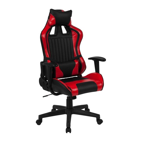 Wondrous Flash Furniture Cumberland Comfort Series High Back Executive Reclining Racing Gaming Swivel Accent Chair With Adjustable Lumbar Support Black Red Cjindustries Chair Design For Home Cjindustriesco