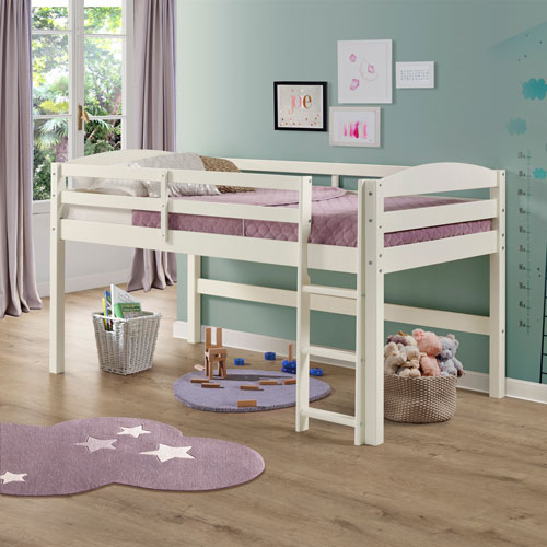 Winmoor Home Traditional Loft Bed - Twin - White