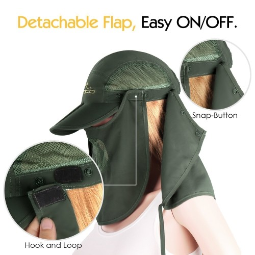 6be50f828f8 MoKo Outdoor Summer Sun Protection Cap