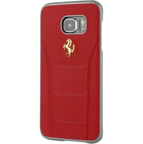 06128a72f Ferrari Fitted Hard Shell Case for Samsung Galaxy S7 Edge - Red   Best Buy  Canada