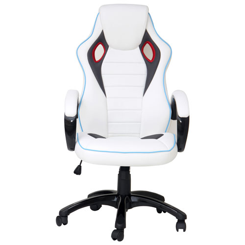 Terrific X Rocker Ergonomic Mid Back Gaming Chair White Machost Co Dining Chair Design Ideas Machostcouk