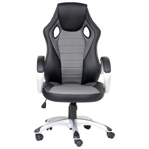 Awe Inspiring X Rocker Ergonomic Mid Back Gaming Chair Black Grey Uwap Interior Chair Design Uwaporg