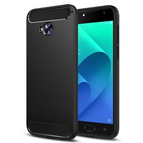 premium selection e6de8 a73f6 MoKo ASUS ZenFone 4 Selfie Pro Case, Flexible TPU Bumper Slim Fit Case  Carbon Fiber Design Lightweight Shockproof Back Cover f
