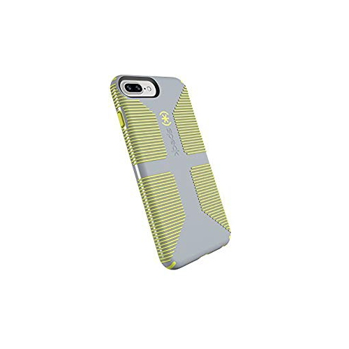 pretty nice 1696b 9880c Speck Products CandyShell Grip Cell Phone Case for iPhone 8 Plus (Also fits  7 Plus and 6S 6 Plus) - Nickel Grey Antifreeze Yel