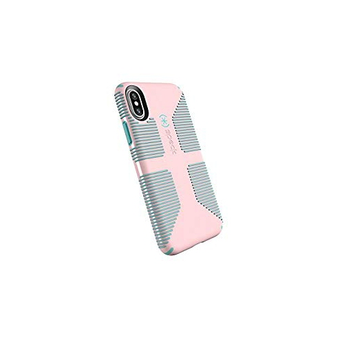 purchase cheap 6ae9e 4ca0a Speck Products CandyShell Grip Cell Phone Case for iPhone X - Quartz  Pink/River Blue