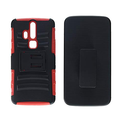 free shipping 3ecaa a8588 Asmyna Cell Phone Case for ZTE Axon Pro - Retail Packaging - Black/Red