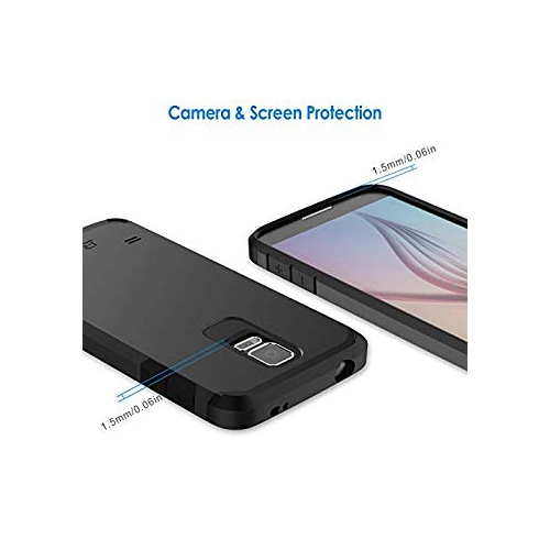 competitive price 6ea33 94d28 Galaxy S5 Case, JETech Super Protective Samsung Galaxy S5 Case Slim Ultra  Fit for Galaxy S5 (Black) - 3010