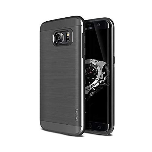 on sale 2be15 37d80 Galaxy S7 Edge Case, OBLIQ [Slim Meta][Titanium Space Gray] Slim Fit  Premium Dual Layer Protection Case with Metallic Brush Fi
