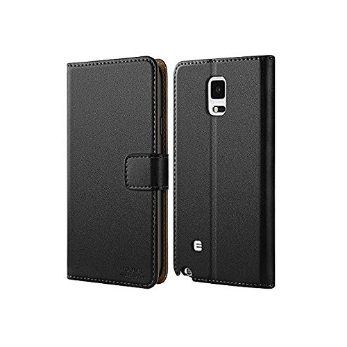 new styles d6141 f8348 Galaxy Note 4 Case, HOOMIL [Slim Fit] Premium Leather Case for Samsung  Galaxy Note 4 Phone Cover (Black)