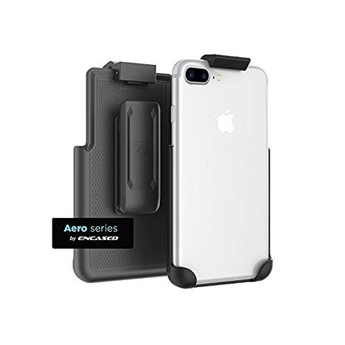 buy popular a2d52 75fb4 iPhone 7 Plus 5.5' Belt Clip, (Secure-fit) Case Free Holster Design - Black  (Encased Products)