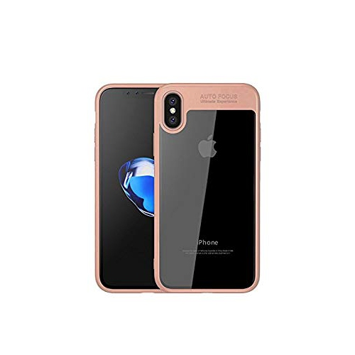 3b468e2e1 iPhone X Cases, UCMDA [TPU+PC] Hybrid Layer ShockProof Silicone Bumper Case,  Drop Protection & Anti-Scratch Clear Hard Protect - Online Only