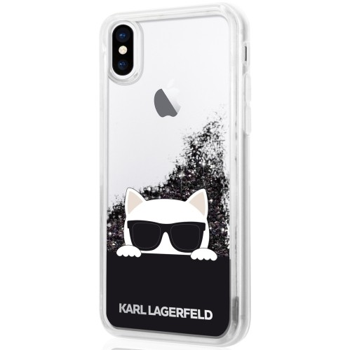 detailed look 5f2f9 282c5 Karl Lagerfeld Fitted Hard Shell Case for iPhone X - Black