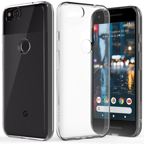 online store f1456 ee717 Google Pixel 2 Case, Fosmon [DURA-T] Slim Flexible Gel TPU Glossy Soft  Cover for Google Pixel 2 - Clear