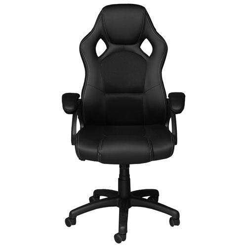 Brassex Eclipse Ergonomic Vinyl Gaming Chair - Black