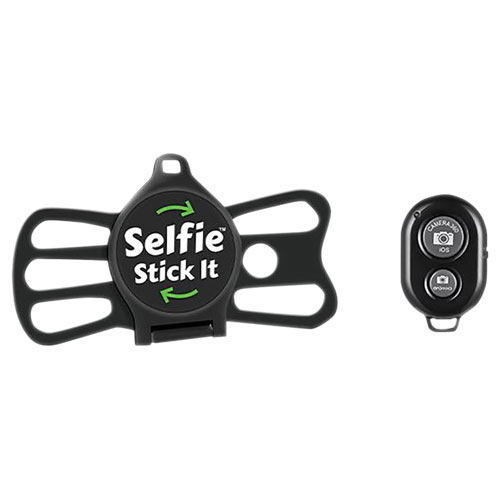 Selfie Stick It Universal Cell Phone Mount with Bluetooth Remote - Black
