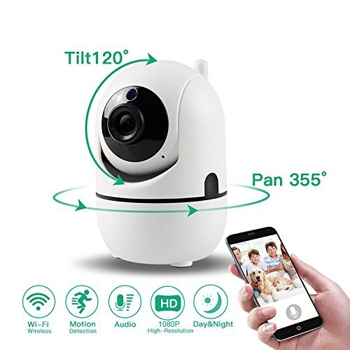 SEGUARD WIFI Camera 1080P HD Wireless IP Security, Baby Monitor Cams Motion Detection Audio Night Vision Remote Control