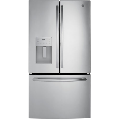 Ge 36 255 Cu Ft French Door Refrigerator With Water Ice