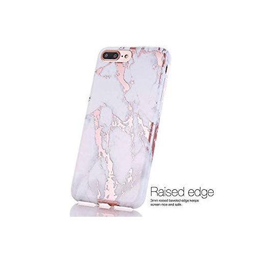 729d649008 iPhone 7 Plus Case, Shiny Rose Gold White Marble Design, BAISRKE Clear  Bumper Matte TPU Soft Rubber Silicone Cover Phone Case | Best Buy Canada