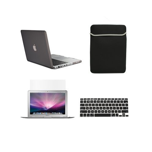 huge selection of 11d1d c4c60 Unik Case-4 in 1 13 Inch Rubberized Hard Case,Screen Portector,Sleeve Bag &  Silicone Skin for Macbook Pro 13' with DVD Drive A
