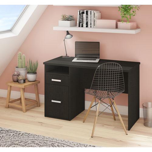 harlon transitional computer desk deep grey desks workstations
