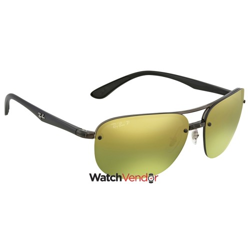 691d2ff9af Ray Ban Green Mirror Chromance Rectangular Men s Sunglasses RB4275CH 876 6O  63 - Online Only