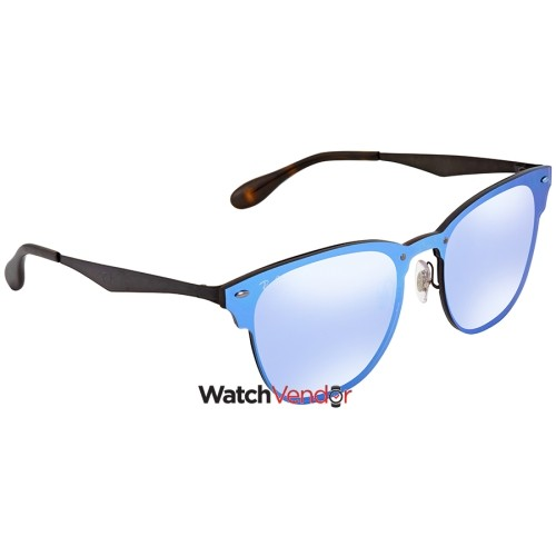 Ray Ban Blaze Clubmaster Violet Blue Mirror Square Sunglasses RB3576N  153 7V 47   Lunettes de soleil - Best Buy Canada d5aadc703f8a