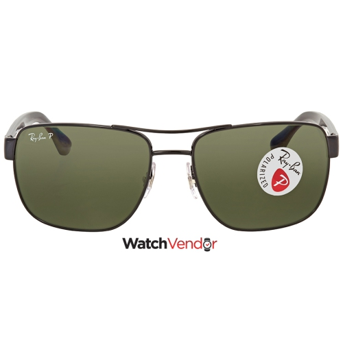 56c6fad0af14c Ray Ban Polarized Green Classic G-15 Square Men s Sunglasses RB3530 002 9A  58 - Online Only