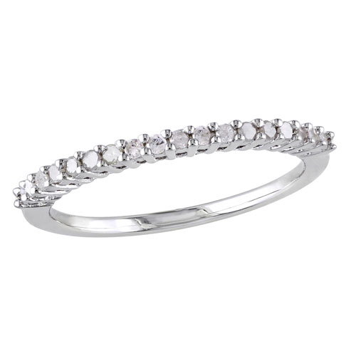 Anniversary Ring in 10K White Gold with 0.18ctw HIJ I3 Diamonds - Size 6