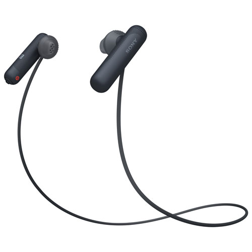 Sony Wi Sp500 In Ear Bluetooth Headphones With Mic Black Best Buy Canada