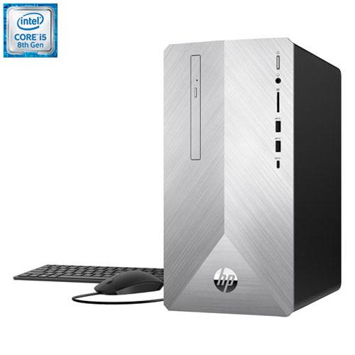 HP Pavilion Desktop PC - Natural Silver (Intel Core i5-8400/1TB HDD/128GB SSD/8GB RAM/Win 10) - Eng