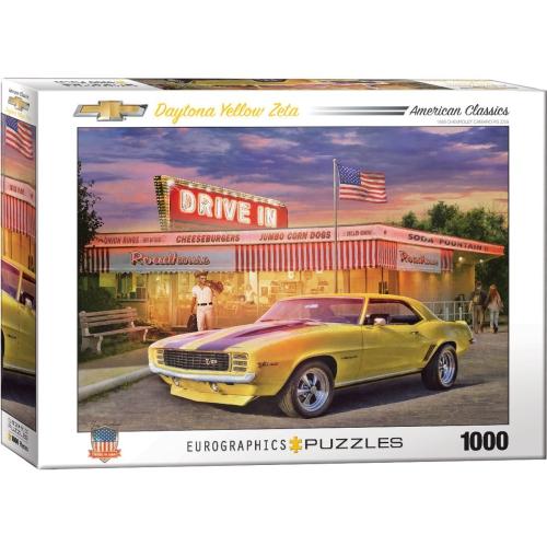 Daytona Yellow Zeta by Greg Giordano 1000-Piece Puzzle
