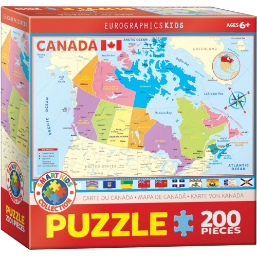 Buy Map Of Canada.Map Of Canada 200 Piece Puzzle