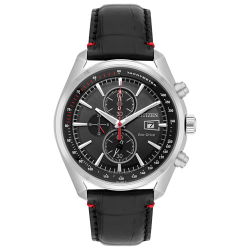 0ec531ffaa75d Citizen Strap Eco-Drive 45mm Men s Solar Powered Chronograph Casual Watch -  Black Silver - Online Only