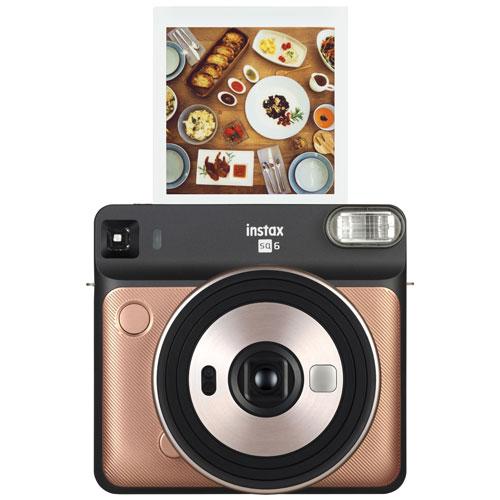 Appareil Photo Instantane Instax Square Sq6 De Fujifilm Rose Dore