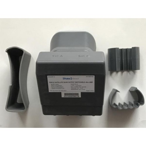 Shaw Direct Triple Satellite Quad Output Switchable xKu LNBF for 75cm Dish