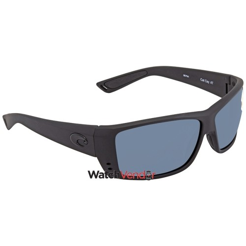 705b684b18916 Costa Del Mar Cat Cay Grey 580P Rectangular Sunglasses AT 01 OGP ...