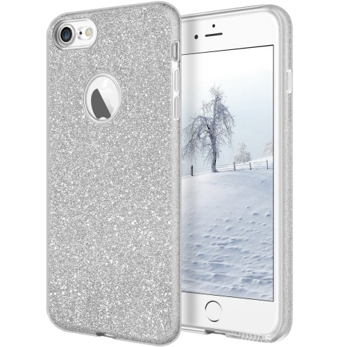 finest selection 0cc24 b767d iPhone 8 Case,Cheeringary iPhone 7 Bling Glitter Shiny 3 in 1 Shockproof  Slim Fit TPU+PC Protective Cover Shell for Apple iPho