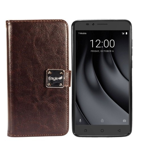 the latest d7e03 908fe Insten Pouch Case for Coolpad Revvl Plus - Dark Brown - Online Only