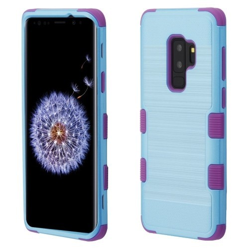 best service 63aad f37cf Insten Fitted Hard Shell Case for Samsung Galaxy S9 Plus - Baby Blue;Purple