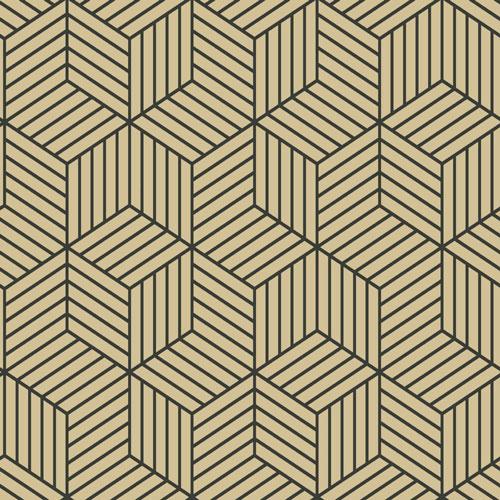 papier peint autocollant avec motif hexagonal ray de roommates dor noir papier peint et. Black Bedroom Furniture Sets. Home Design Ideas