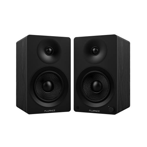 Fluance Ai40 Powered Two Way 5 20 Bookshelf Speakers With Class D Amplifier For Turntable PC HDTV Bluetooth Music