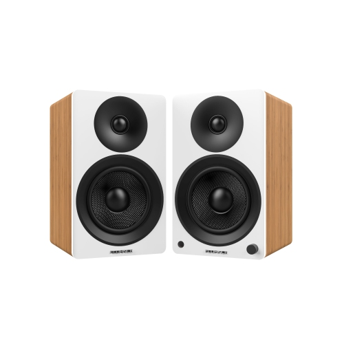 Fluance Ai40W Powered Two Way 5 20 Bookshelf Speakers With Class D Amplifier For